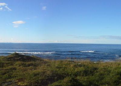 Widok z okien Domu Jogi na Morz Północne.